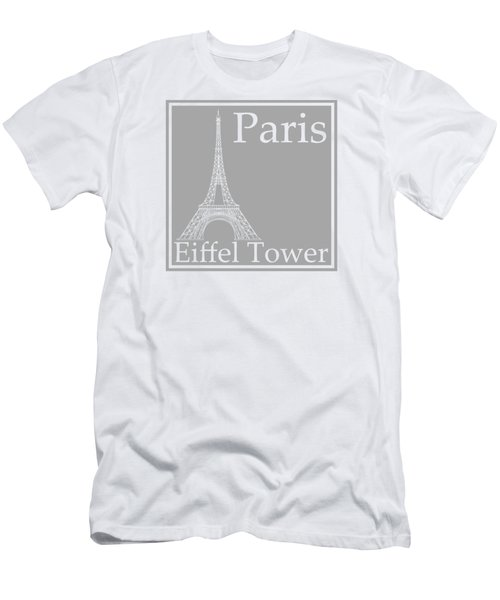 Eiffel Tower In Gray Men's T-Shirt (Slim Fit) by Custom Home Fashions
