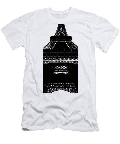 Eiffel Tower Paris Graphic Phone Case Men's T-Shirt (Slim Fit) by Edward Fielding