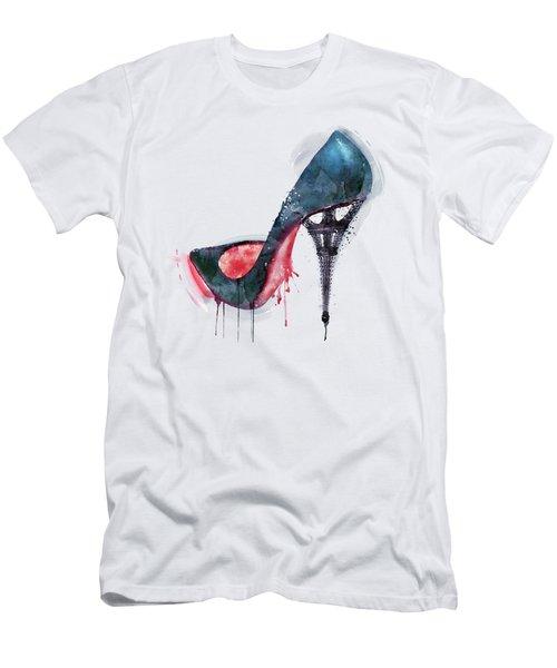 Eiffel Tower Shoe Men's T-Shirt (Slim Fit) by Marian Voicu
