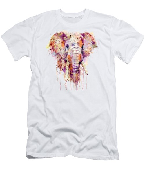 Elephant  Men's T-Shirt (Slim Fit) by Marian Voicu