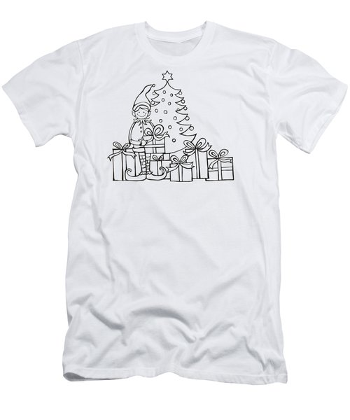 Elf And Presents  Men's T-Shirt (Slim Fit) by Mantra Y