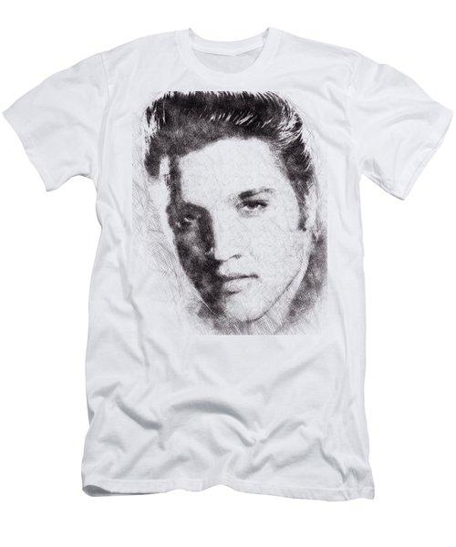 Elvis Presley Portrait 02 Men's T-Shirt (Slim Fit) by Pablo Romero