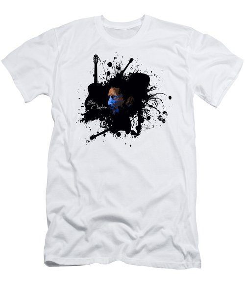 Eric Clapton In Blue Men's T-Shirt (Slim Fit) by Ryan Anderson