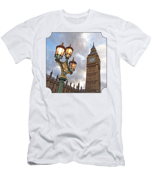 Evening Light At Big Ben Men's T-Shirt (Slim Fit) by Gill Billington