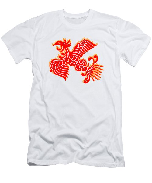 Flaming Red Phoenix Rising Men's T-Shirt (Slim Fit) by Nathan Beardsley