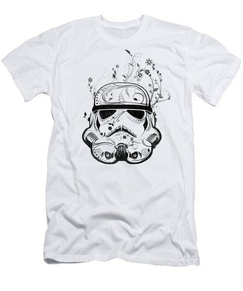 Flower Trooper Men's T-Shirt (Slim Fit) by Nicklas Gustafsson
