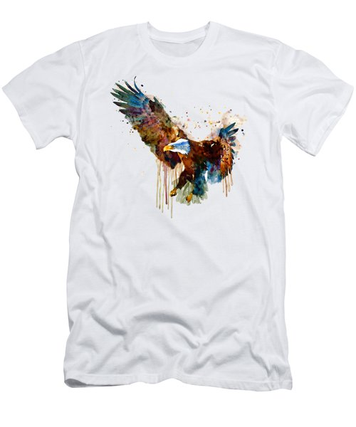 Free And Deadly Eagle Men's T-Shirt (Slim Fit) by Marian Voicu