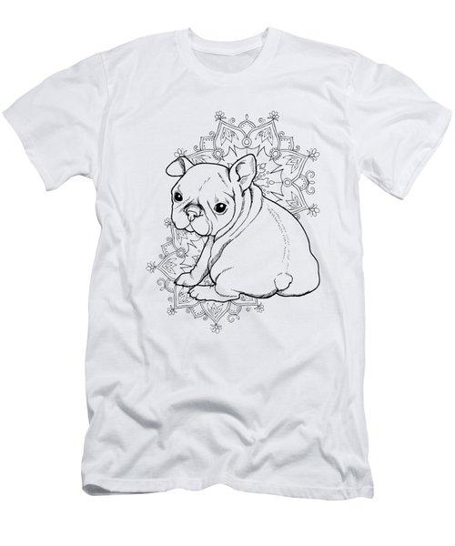 French Bulldog Puppy Men's T-Shirt (Slim Fit) by Cindy Elsharouni