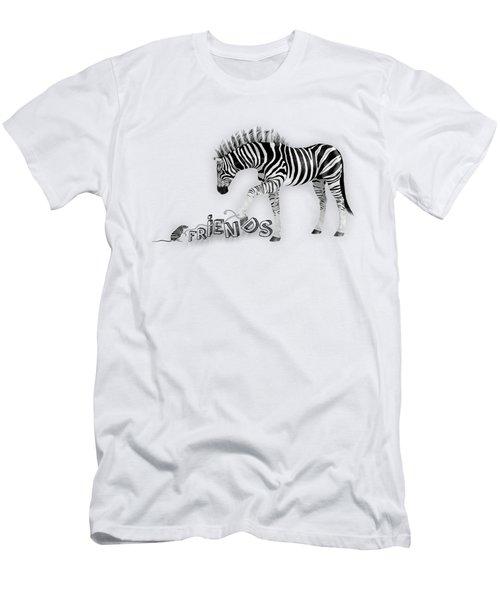 Friends Men's T-Shirt (Slim Fit) by Jutta Maria Pusl