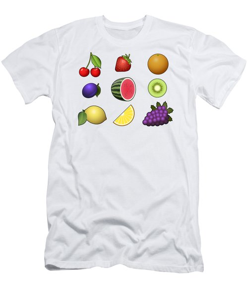 Fruits Collection Men's T-Shirt (Slim Fit) by Miroslav Nemecek
