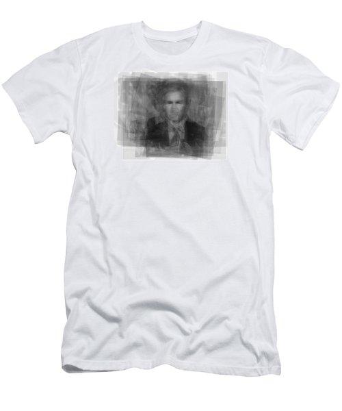 George W. Bush Men's T-Shirt (Slim Fit) by Steve Socha