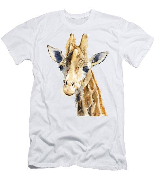 Giraffe Watercolor Men's T-Shirt (Slim Fit) by Melly Terpening