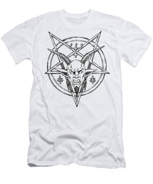 Goatlord Logo Men's T-Shirt (Slim Fit) by Alaric Barca