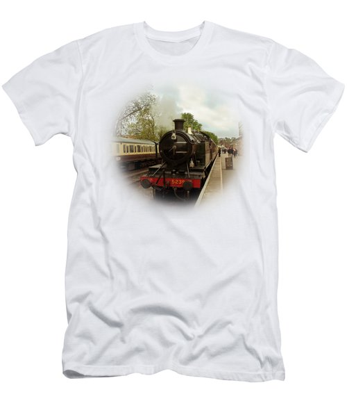 Goliath The Engine And Anna On Transparent Background Men's T-Shirt (Slim Fit) by Terri Waters