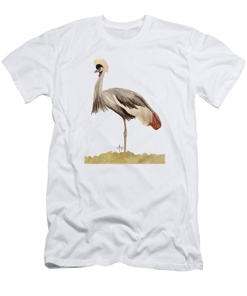 Grey Crowned Crane Men's T-Shirt (Slim Fit) by Angeles M Pomata