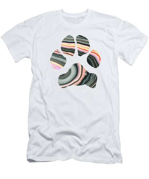 Groovy Dog Paw - Sharon Cummings  Men's T-Shirt (Slim Fit) by Sharon Cummings
