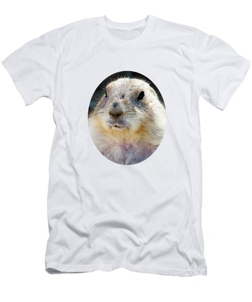 Ground Squirrel Portrait Men's T-Shirt (Slim Fit) by Laurel Powell