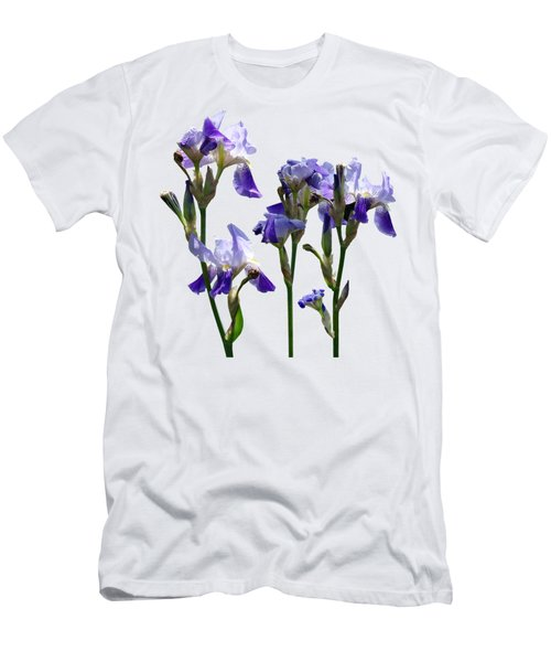 Group Of Purple Irises Men's T-Shirt (Slim Fit) by Susan Savad