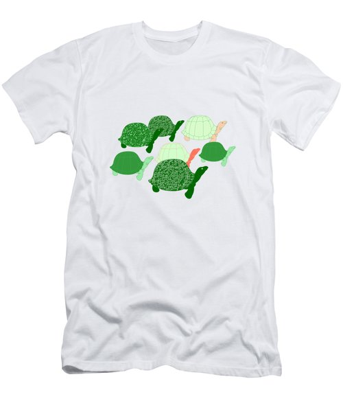Herd Of Turtles Pattern Men's T-Shirt (Slim Fit) by Methune Hively