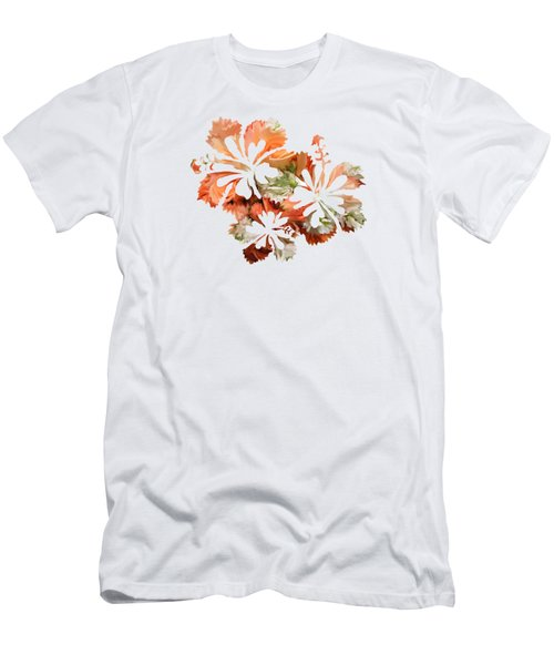 Hibiscus Flowers Men's T-Shirt (Slim Fit) by Art Spectrum