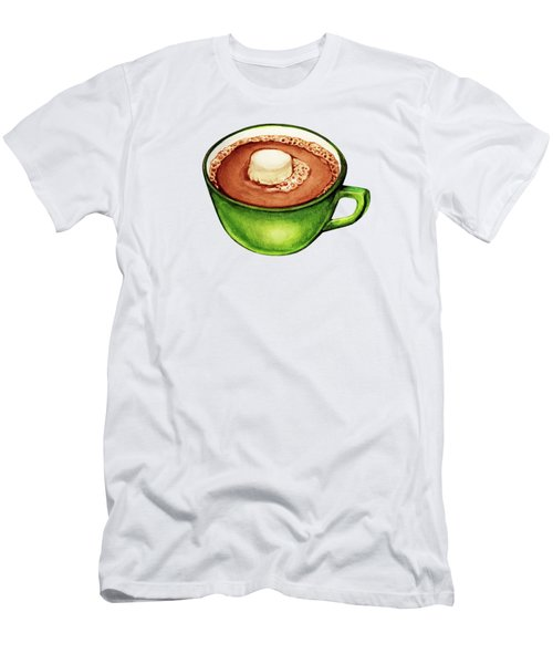 Hot Cocoa Pattern Men's T-Shirt (Slim Fit) by Kelly Gilleran