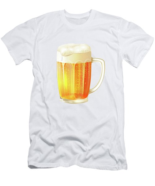 Ice Cold Beer Pattern Men's T-Shirt (Slim Fit) by Little Bunny Sunshine