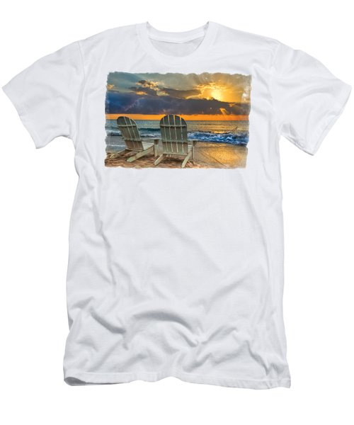 In The Spotlight Bordered Men's T-Shirt (Slim Fit) by Debra and Dave Vanderlaan