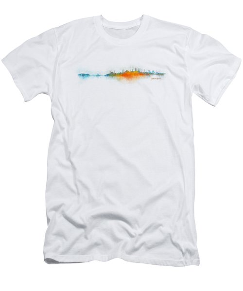 Istanbul City Skyline Hq V03 Men's T-Shirt (Slim Fit) by HQ Photo