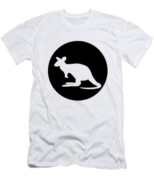 Kangaroo  Men's T-Shirt (Slim Fit) by Mordax Furittus