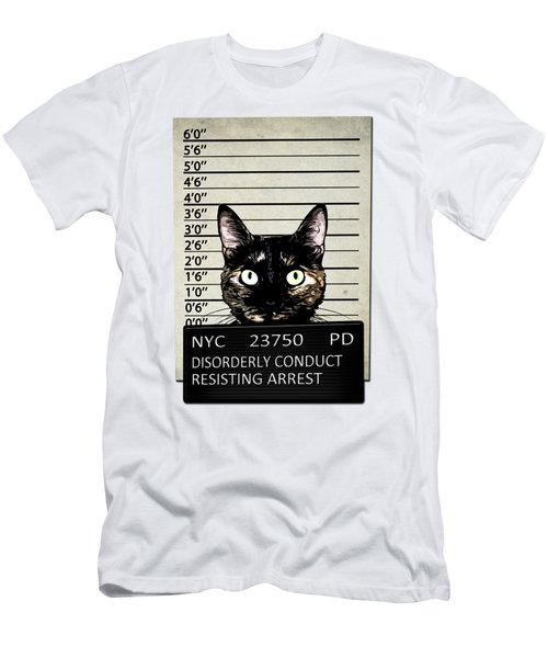 Kitty Mugshot Men's T-Shirt (Slim Fit) by Nicklas Gustafsson