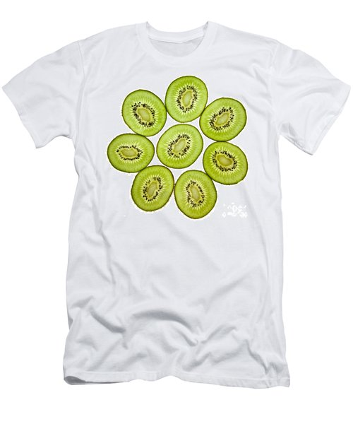 Kiwifruit Men's T-Shirt (Slim Fit) by Nailia Schwarz