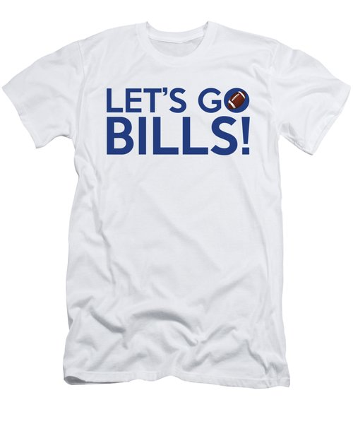 Let's Go Bills Men's T-Shirt (Slim Fit) by Florian Rodarte