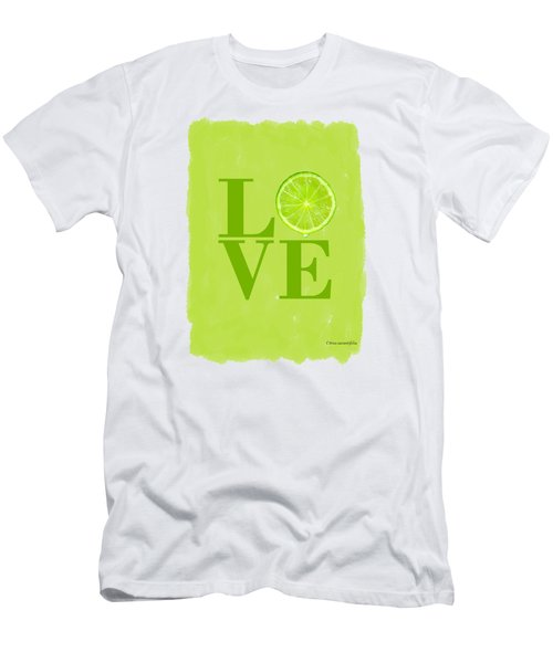 Lime Men's T-Shirt (Slim Fit) by Mark Rogan