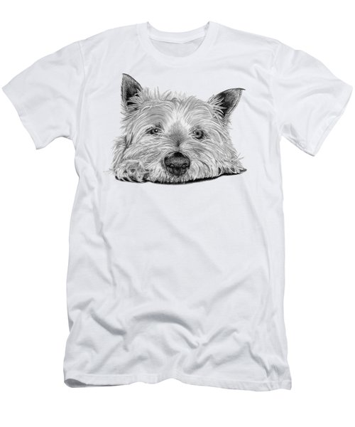 Little Dog Men's T-Shirt (Slim Fit) by Sarah Batalka