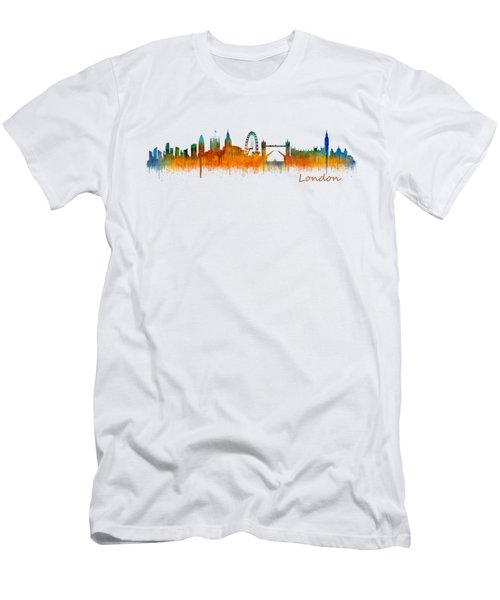 London City Skyline Hq V2 Men's T-Shirt (Slim Fit) by HQ Photo