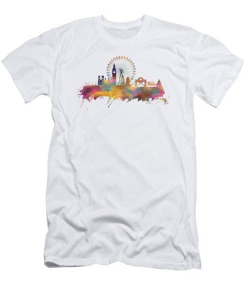 London Skyline Men's T-Shirt (Slim Fit) by Justyna JBJart