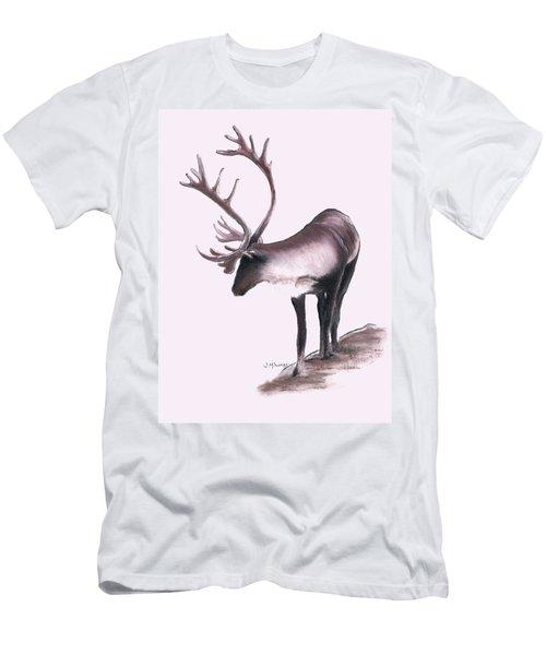 Lone Caribou Men's T-Shirt (Slim Fit) by Jane M Lucas