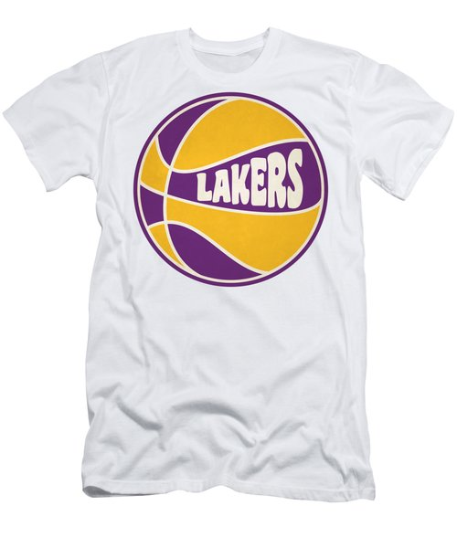 Los Angeles Lakers Retro Shirt Men's T-Shirt (Slim Fit) by Joe Hamilton