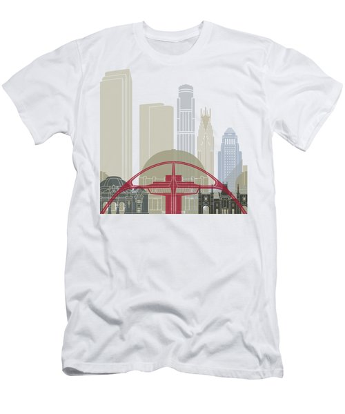 Los Angeles Skyline Poster Men's T-Shirt (Slim Fit) by Pablo Romero