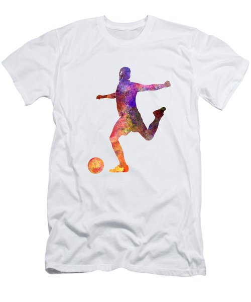 Man Soccer Football Player 03 Men's T-Shirt (Slim Fit) by Pablo Romero