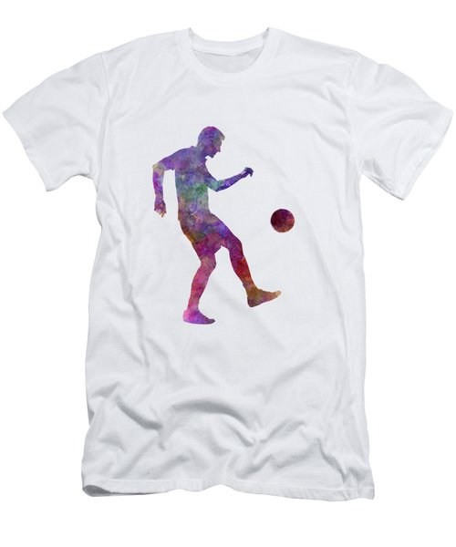 Man Soccer Football Player 04 Men's T-Shirt (Slim Fit) by Pablo Romero
