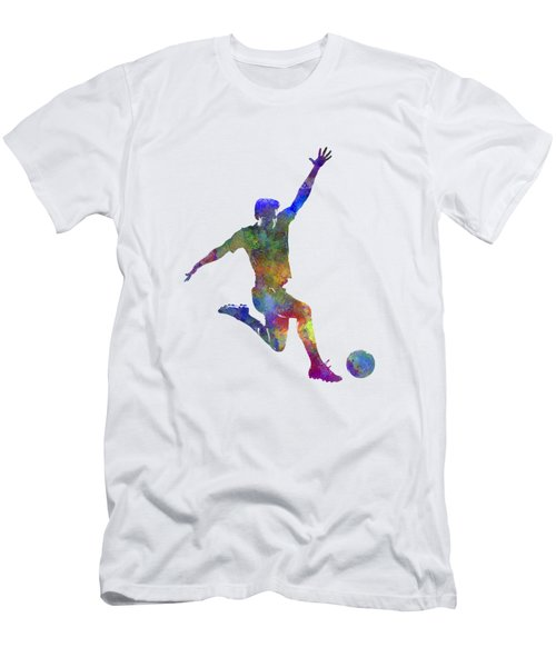 Man Soccer Football Player 05 Men's T-Shirt (Slim Fit) by Pablo Romero