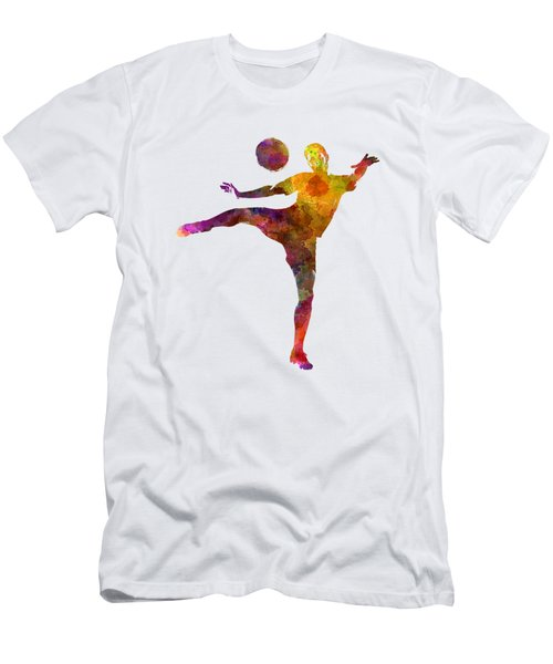 Man Soccer Football Player 07 Men's T-Shirt (Slim Fit) by Pablo Romero