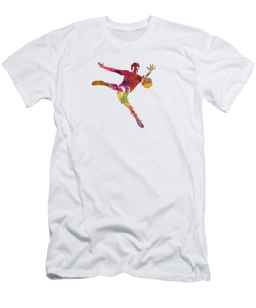 Man Soccer Football Player 08 Men's T-Shirt (Slim Fit) by Pablo Romero