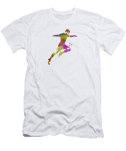 Man Soccer Football Player 12 Men's T-Shirt (Slim Fit) by Pablo Romero