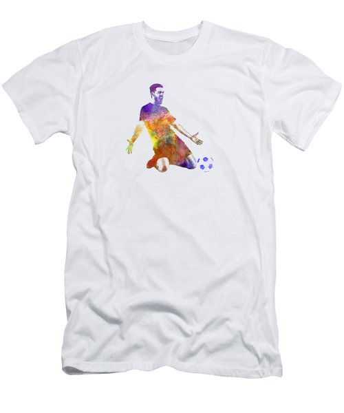 Man Soccer Football Player 13 Men's T-Shirt (Slim Fit) by Pablo Romero