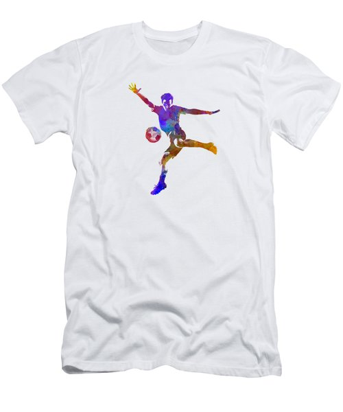 Man Soccer Football Player 14 Men's T-Shirt (Slim Fit) by Pablo Romero