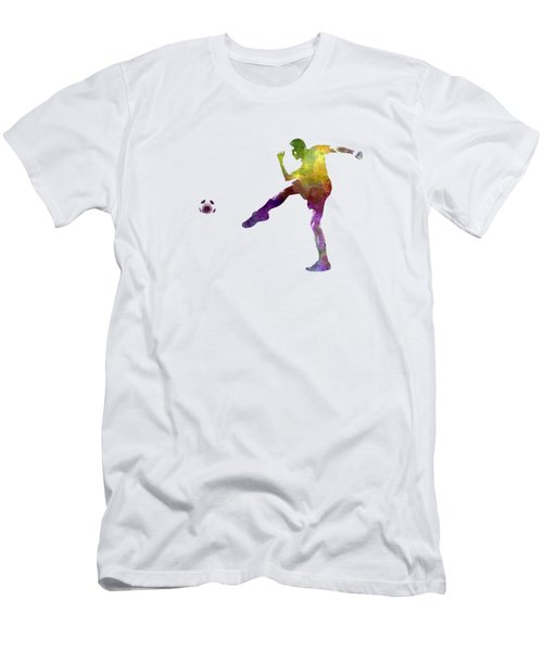 Man Soccer Football Player 15 Men's T-Shirt (Slim Fit) by Pablo Romero