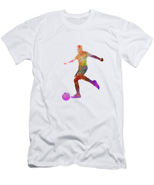 Man Soccer Football Player 16 Men's T-Shirt (Slim Fit) by Pablo Romero
