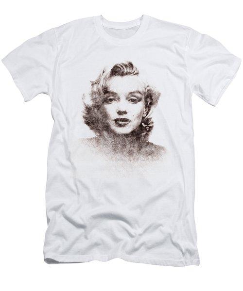 Marilyn Monroe Portrait 04 Men's T-Shirt (Slim Fit) by Pablo Romero